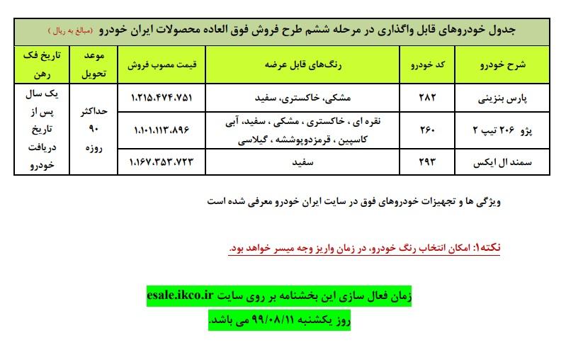 زمان شروع ششمین فروش فوق العاده ایران خودرو + جزئیات