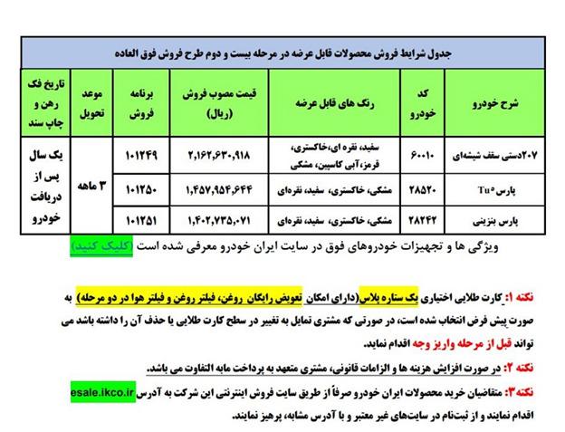 زمان قرعه کشی ایران خودرو